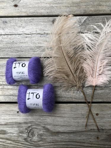 24b581a7 ... kan du legge igjen er kommentar til bestillingen. Når du har strikket  deg SensaiGenser får du en særdeles lett og fluffy genser - kun 180 gram.